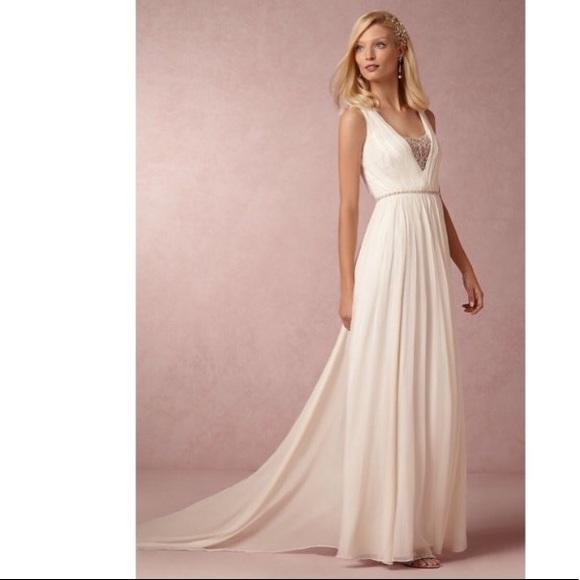 Nicole Miller Dresses Bhldn Millie Wedding Gown Sz 10 Poshmark,Pink And Gold Wedding Dress